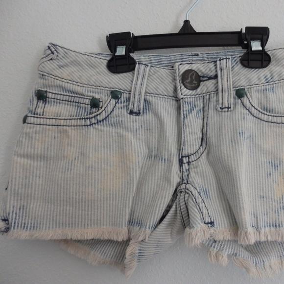 Free People Pants - Free People  Pinstrip shorts with frayed hem